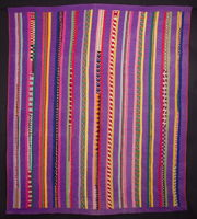 Seminole Indian strip pieced quilt